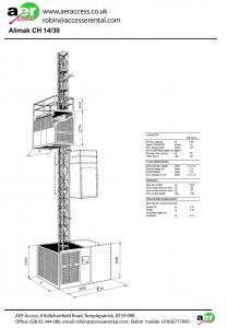 passenger hoist spec sheet